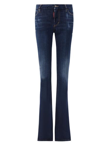 Синие расклешенные джинсы Dsquared2, фото