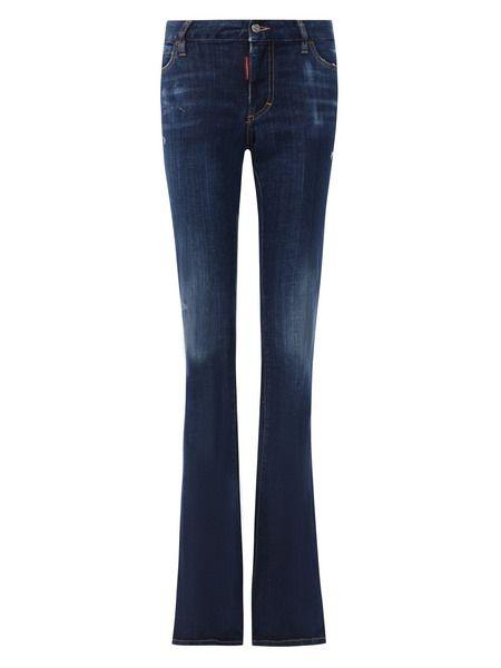 Синие расклешенные джинсы Dsquared2 фото