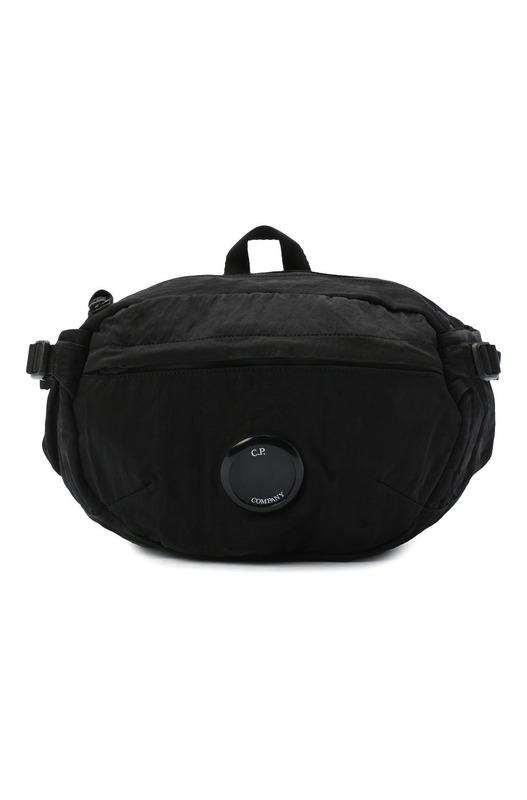 Черная поясная сумка Nylon Satin Garment Dyed C.P. Company, фото