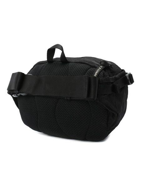 Черная поясная сумка Nylon Satin Garment Dyed
