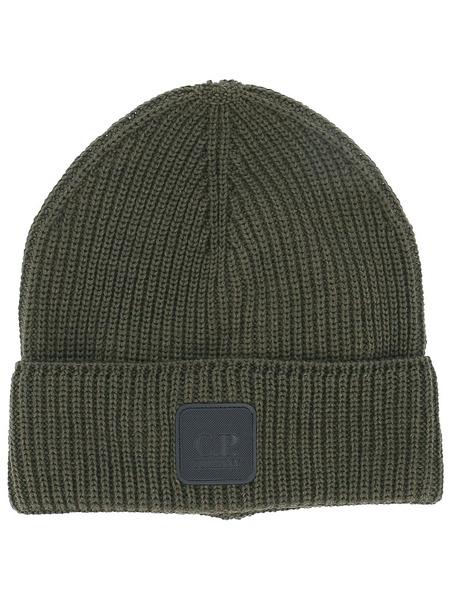 Вязаная шапка с логотипом C.P. Company, фото