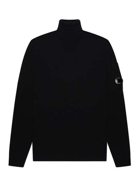 Мужской свитер Turtle Neck Merino Wool (черный) C.P. Company фото