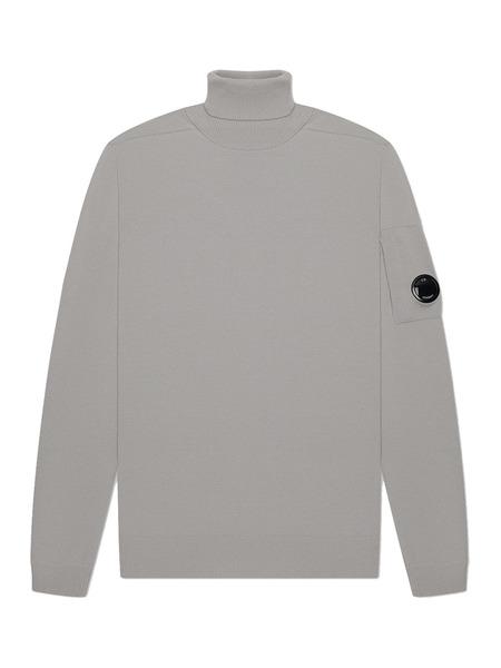 Мужской свитер Turtle Neck Merino Wool (серый) C.P. Company фото