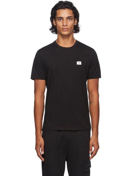 Черная футболка с нашивкой-логотипом C.P. Company, фото