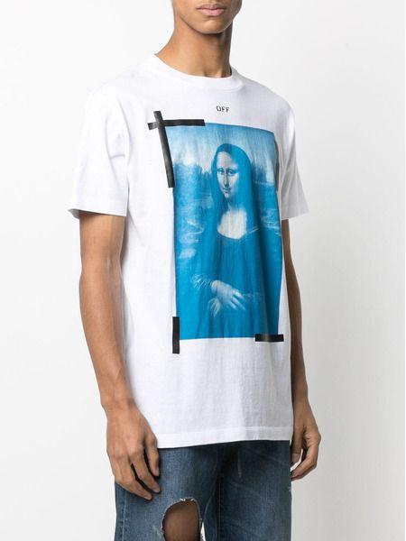 Белая футболка с принтом Mona Lisa