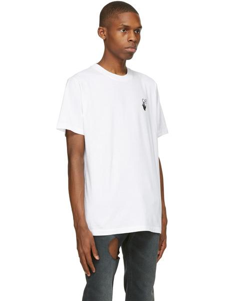 Белая футболка Marker с короткими рукавами и логотипом Off-White, фото