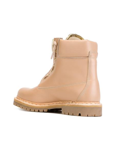Бежевые ботинки на шнуровке Balmain, фото