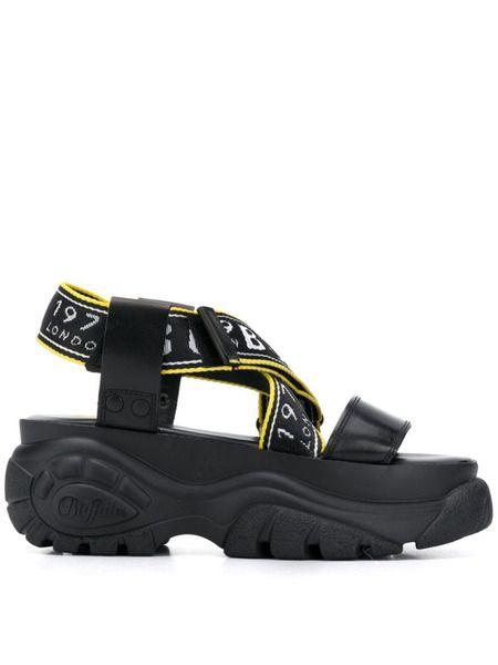 Черные сандалии Bo на платформе Buffalo фото