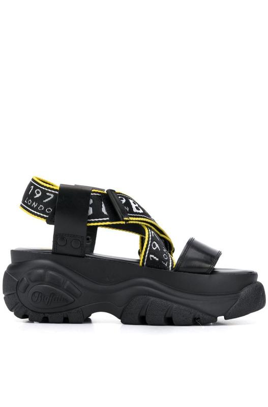 Черные сандалии Bo на платформе Buffalo