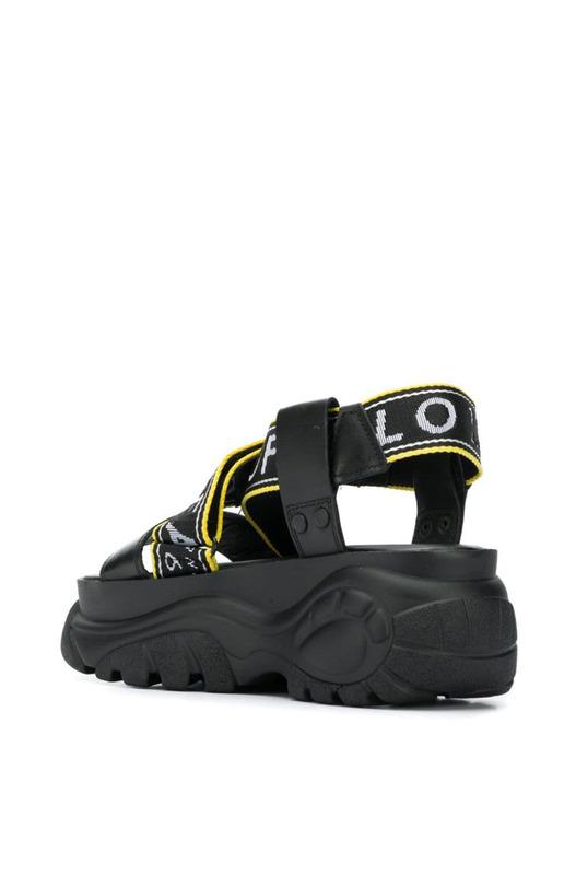 Черные сандалии Bo на платформе Buffalo, фото