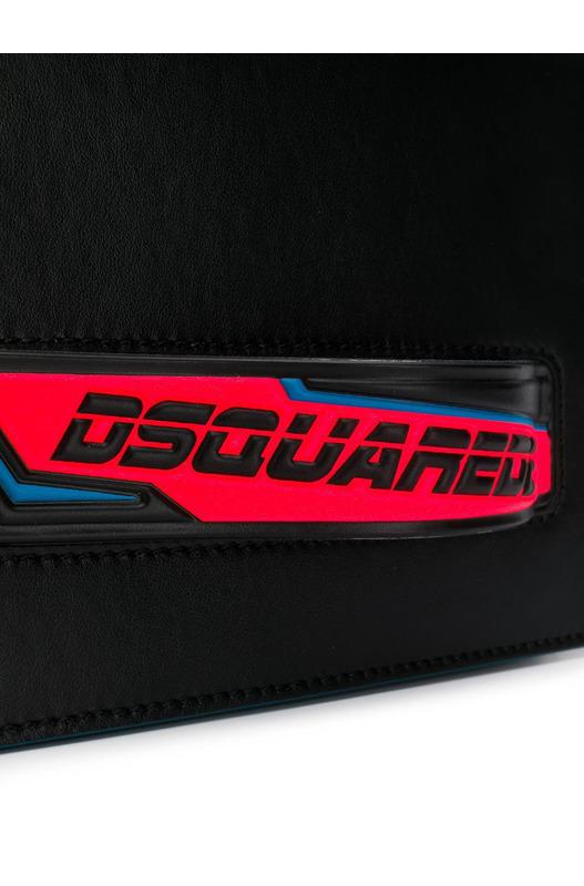 Черная сумка Bionic Sport D2 с контрастной ручкой Dsquared2, фото