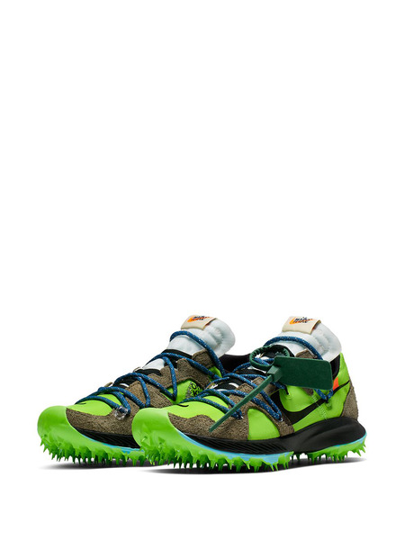 Зеленые кроссовки Nike x Off-White Zoom Terra Kiger 5 Nike, фото