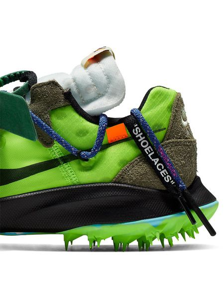 Зеленые кроссовки Nike x Off-White Zoom Terra Kiger 5
