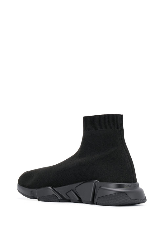 Черные граффити-кроссовки Balenciaga на подошве Speed Runner Balenciaga