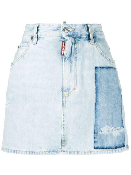 Джинсовая юбка Dalma с потертостями Dsquared2 фото