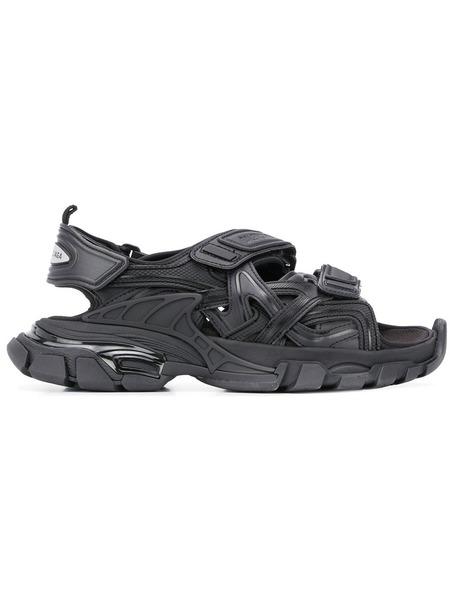 Черные сандалии Track Balenciaga фото