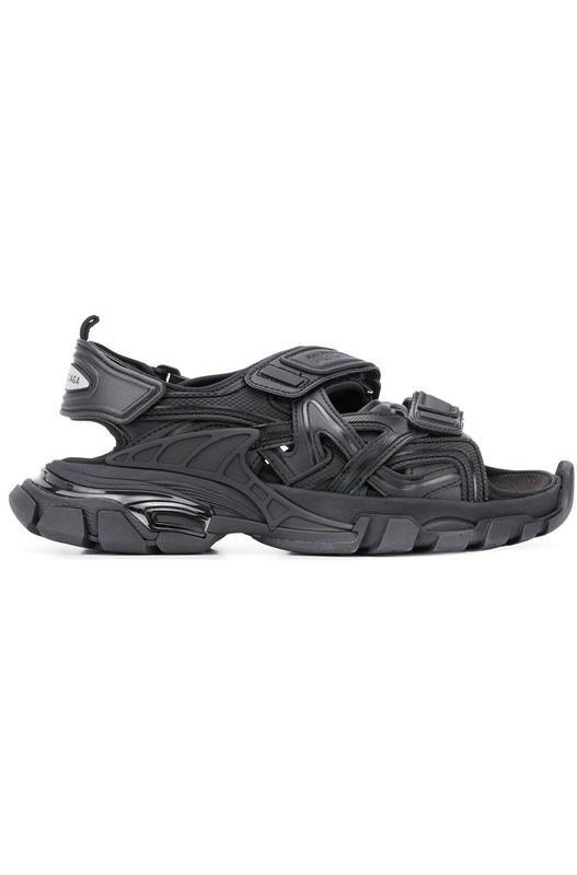 Черные сандалии Track Balenciaga