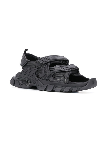 Черные сандалии Track Balenciaga, фото