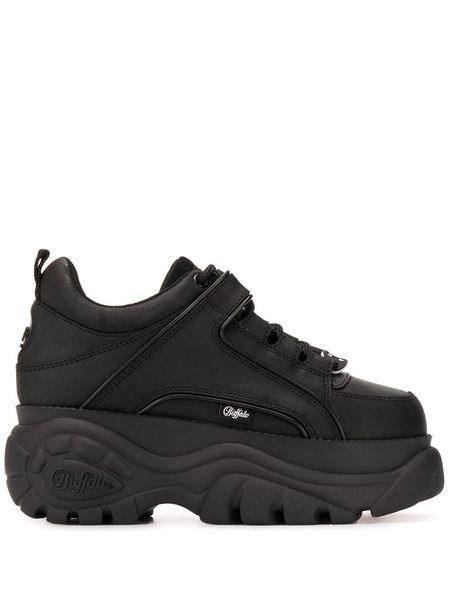Черные кроссовки на платформе Chunky Buffalo фото