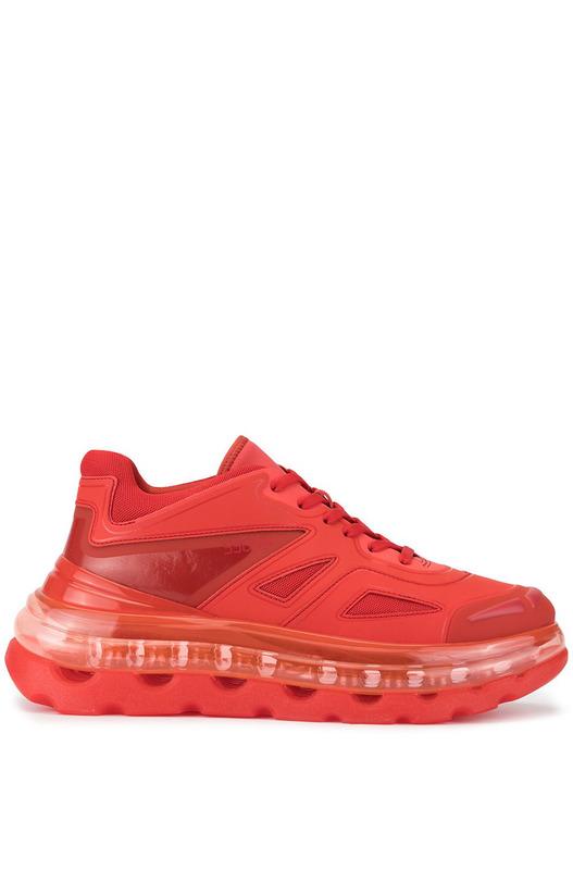 Красные кроссовки Bump'Air на шнуровке Shoes 53045, фото