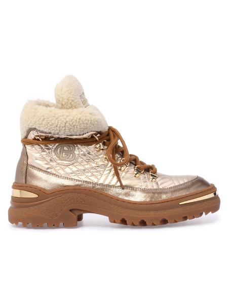 Золотистые ботинки на шнуровке Baldinini фото
