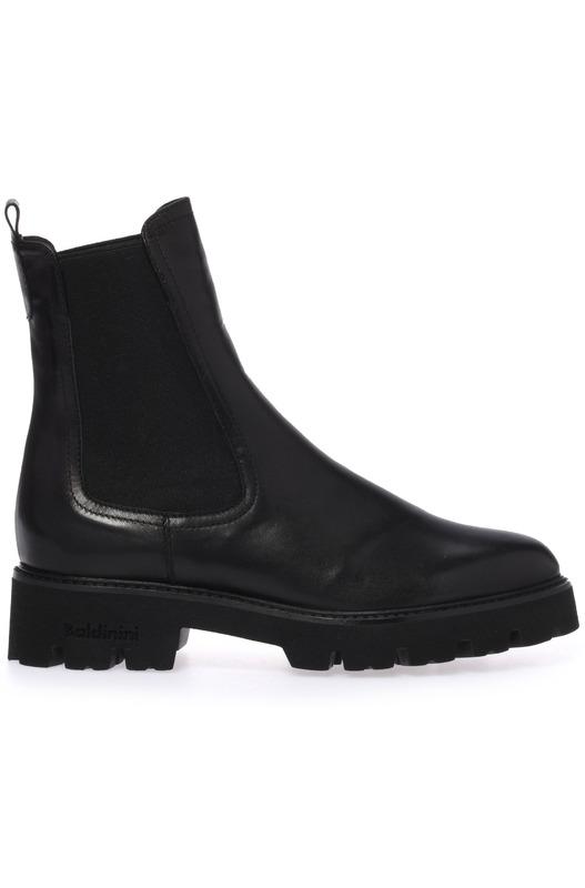 Ботинки челси из черной наппы Baldinini, фото
