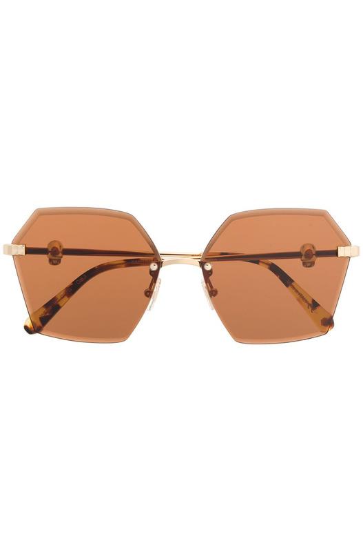 Женские солнцезащитные очки с брендовой фурнитурой