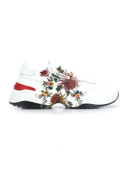 Кроссовки D24 с цветочным принтом Dsquared2 фото