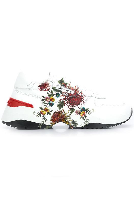Кроссовки D24 с цветочным принтом Dsquared2, фото