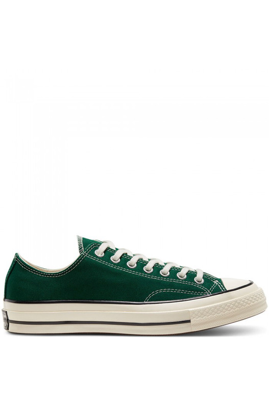 Зеленые короткие кеды Chuck 70 Ox Converse, фото