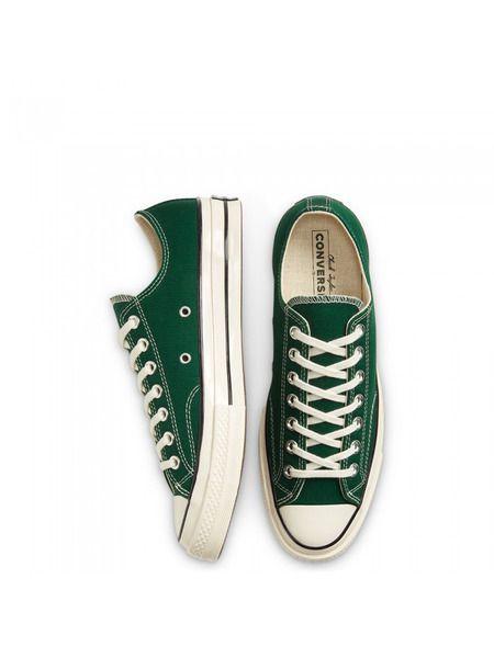Зеленые короткие кеды Chuck 70 Ox