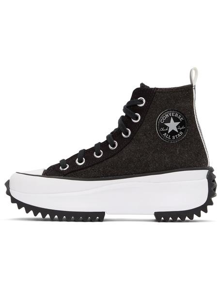 Черно-белые высокие кеды Run Star Hike Converse, фото