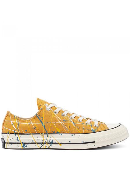 Желтые короткие кеды Chuck 70 Archive с эффектом разбрызганной краски Converse, фото
