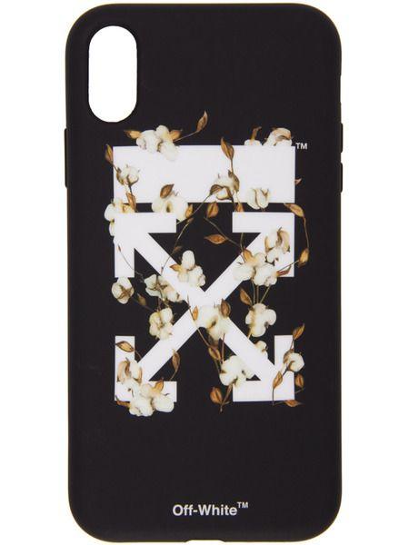 Черный чехол для iPhone XR с стрелками Off-White фото