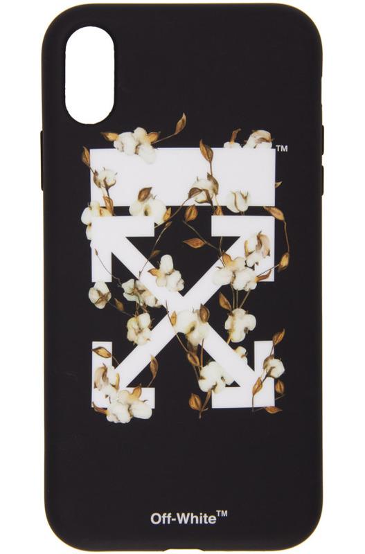 Черный чехол для iPhone XR с стрелками Off-White, фото
