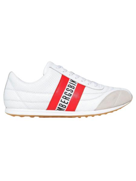 Белые кроссовки Barthel с перфорацией Bikkembergs, фото