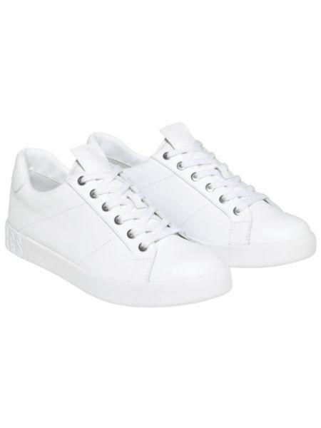 Белые кожаные кеды Shieran