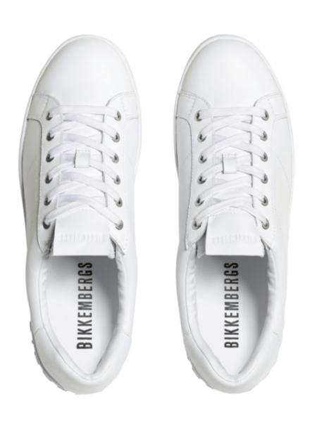 Белые кожаные кеды Shieran Bikkembergs, фото