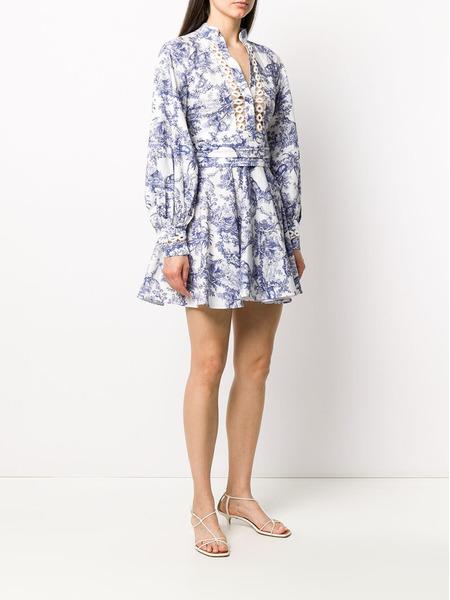Платье мини с цветочным принтом Forte Dei Marmi Couture, фото