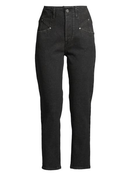 Черные укороченные джинсы Dilianesr Isabel Marant фото