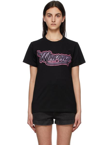 Черная футболка Zaof Isabel Marant, фото