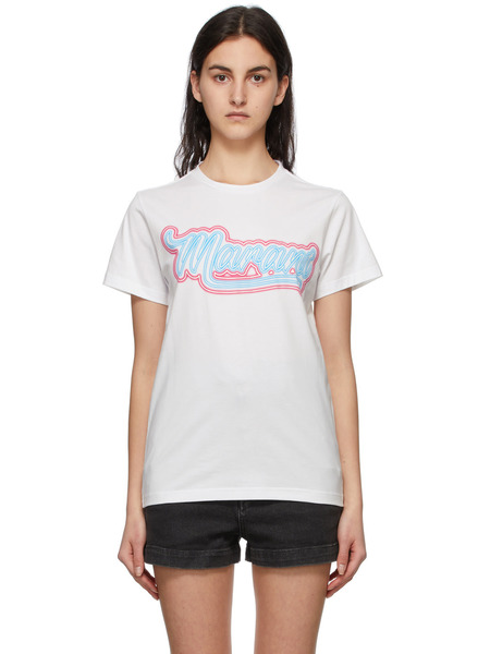 Белая футболка Zaof с логотипом Isabel Marant, фото