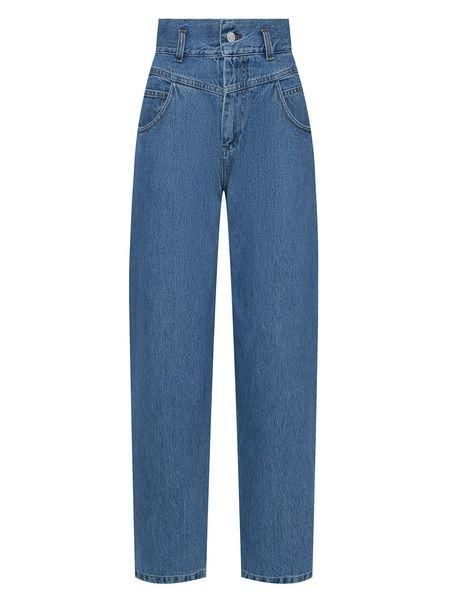 Синие джинсы свободного кроя Forte Dei Marmi Couture фото