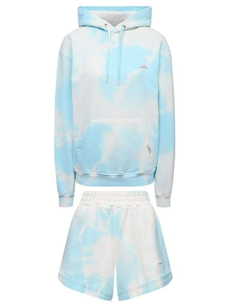 Голубой костюм (худи с шортами) с принтом тай-дай Forte Dei Marmi Couture фото