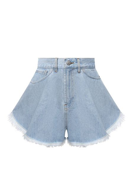Синие джинсовые шорты Forte Dei Marmi Couture фото