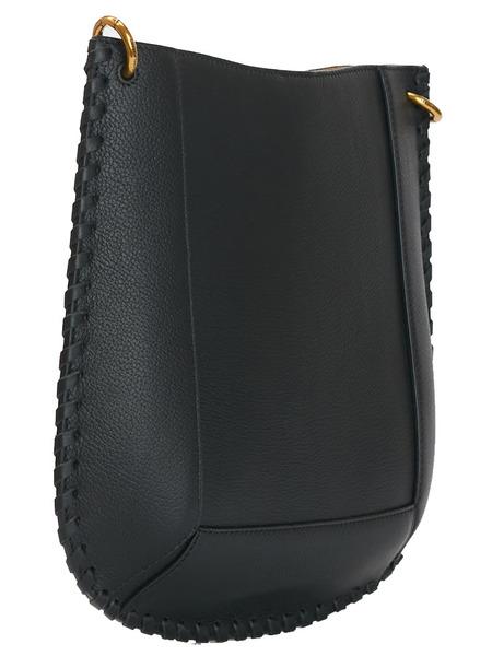 Черная сумка из зернистой кожи Isabel Marant, фото