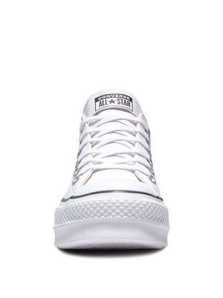 Короткие кожаные кеды Chuck Taylor All Star Platform Clean Converse, фото