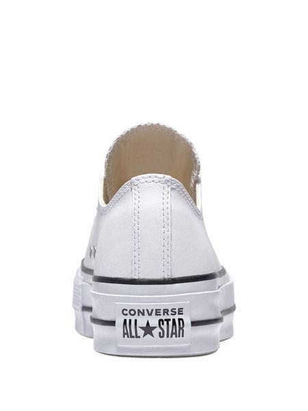 Короткие кожаные кеды Chuck Taylor All Star Platform Clean