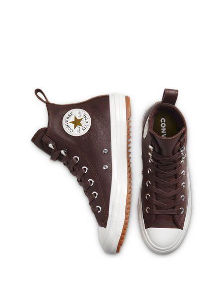 Кожаные теплые кеды Chuck Taylor All Star Hiker Dark Chocolate