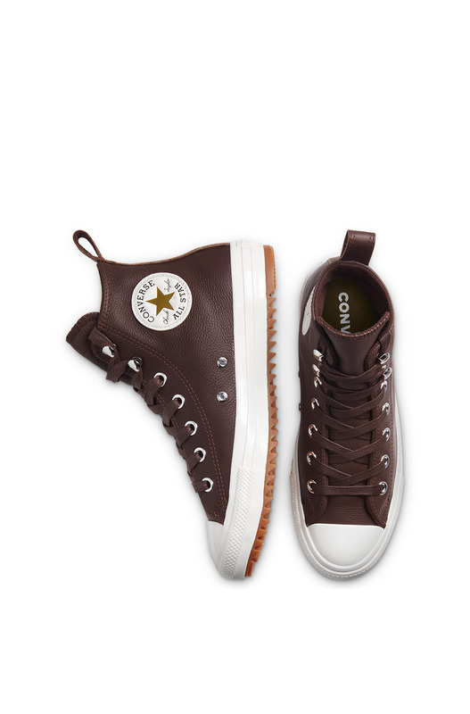 Кожаные теплые кеды Chuck Taylor All Star Hiker Dark Chocolate Converse, фото